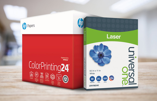 Office Solutions provides paper for your workplace.