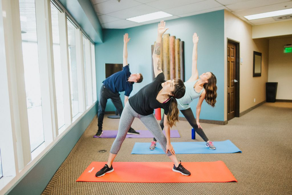 Office Solutions offers employees workout sessions.
