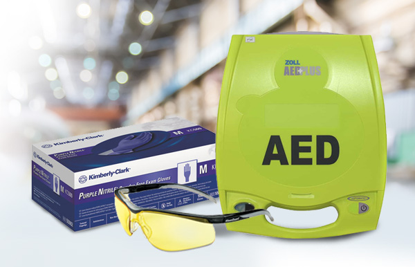 purchase the ZOLL® AED Plus®, Glasses and Gloves at office solutions